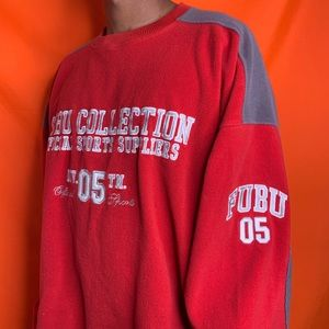 Vtg FUBU Sports the Collection red fleece sweater